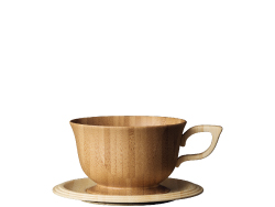 teacup & saucer -brown-